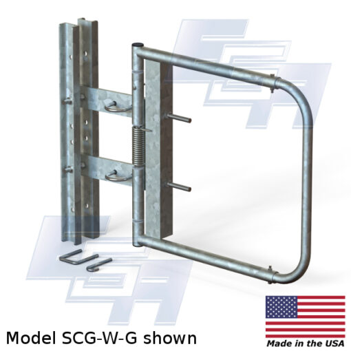 Galvanized Swinging Safety Gate | Wide Opening (24″ – 40″ Wide)