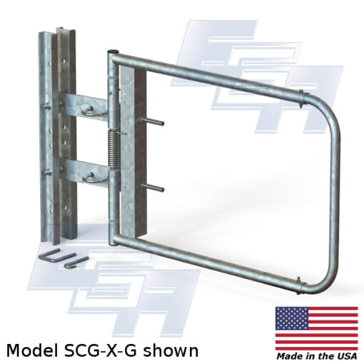 Galvanized Safety Gate | Extra Wide Opening (40″ – 48″ Wide)