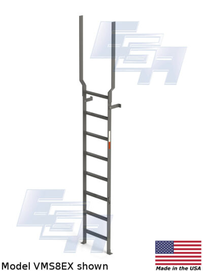 Vertical Fixed Ladder with Handrail Extensions - VMS8EX