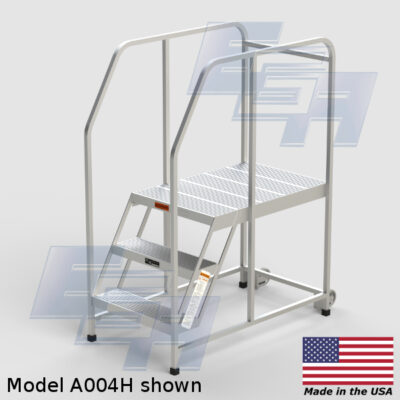 A004H Aluminum Work Platform With Handrails by EGA Products