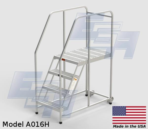 aluminum portable work platform ladder