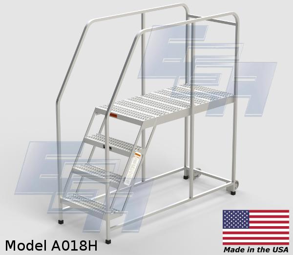 Mobile Aluminum Work Platforms Grip Strut Made In Usa