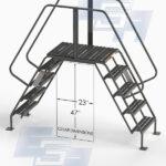 steel ladder cross over