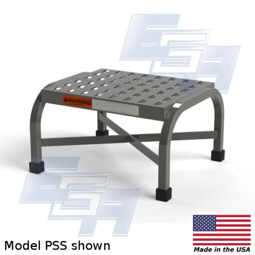 Steel Step Stools (PSS & RSS – SERIES) [Made in the USA]