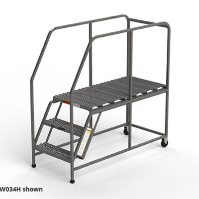 W034H mobile industrial work platform rolling ladder from EGA Products