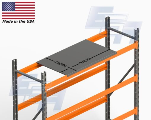 Die Shelves for Pallet Rack Beams [Made in the USA]