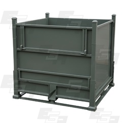 Industrial Bulk Storage Containers Steel Hopper Container by EGA Products