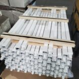 stack rack white posts