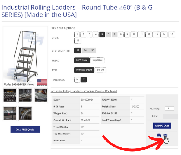 buying a rolling ladder ega products step 1