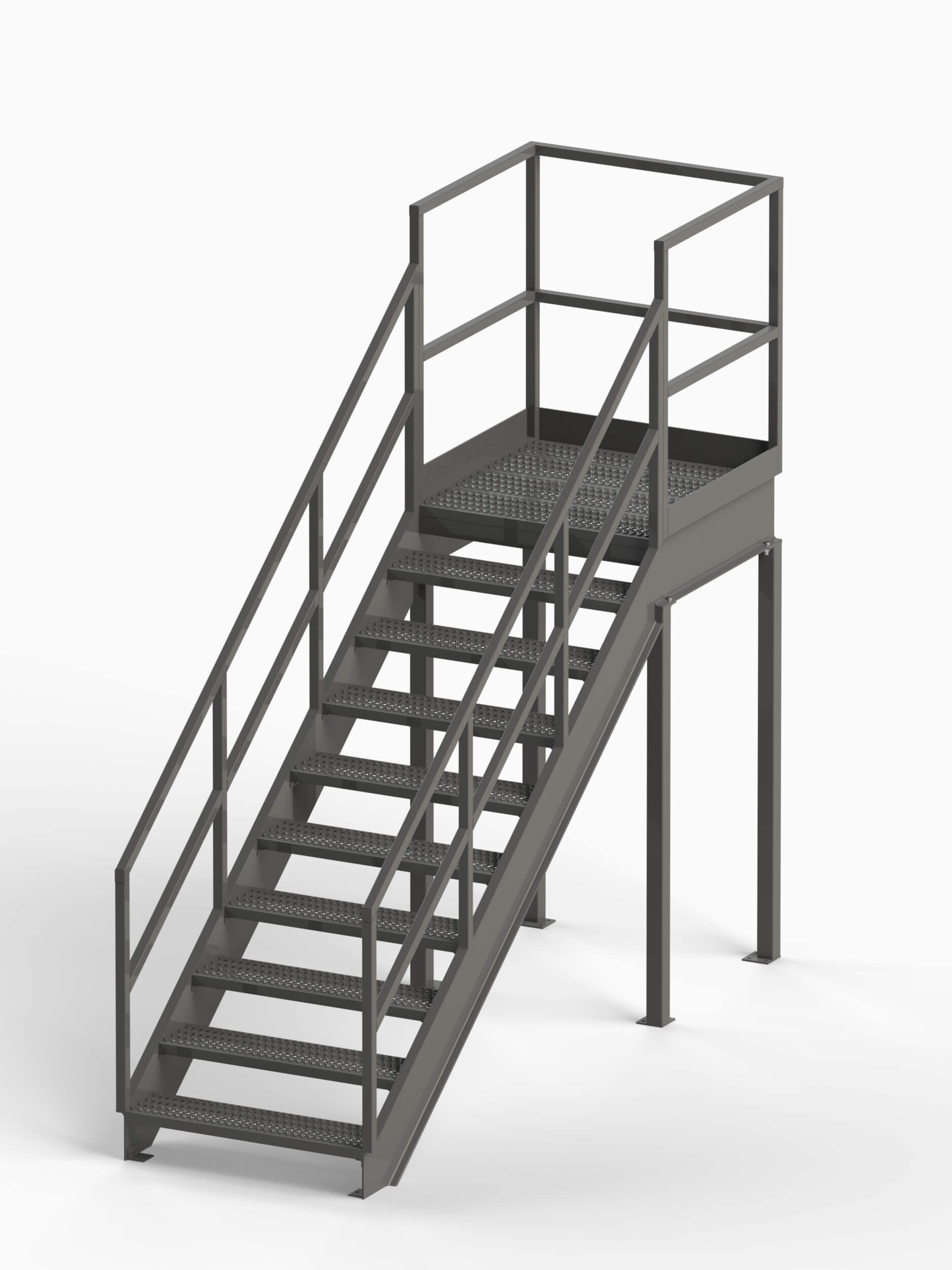 Industrial Stairway with Platform OSHA Compliant - EGA Products