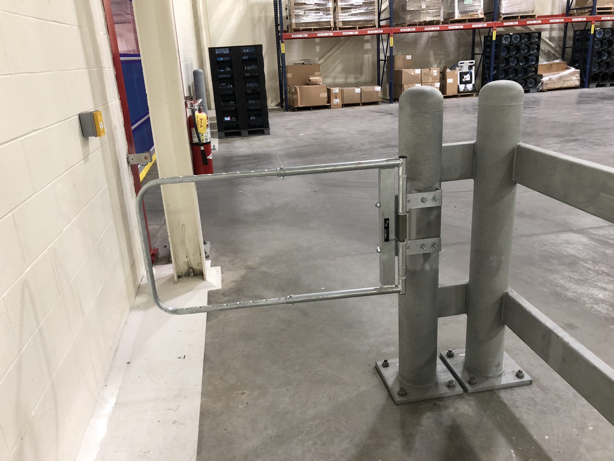 Industrial Swing Gate Galvanized in a Warehouse by EGA Products