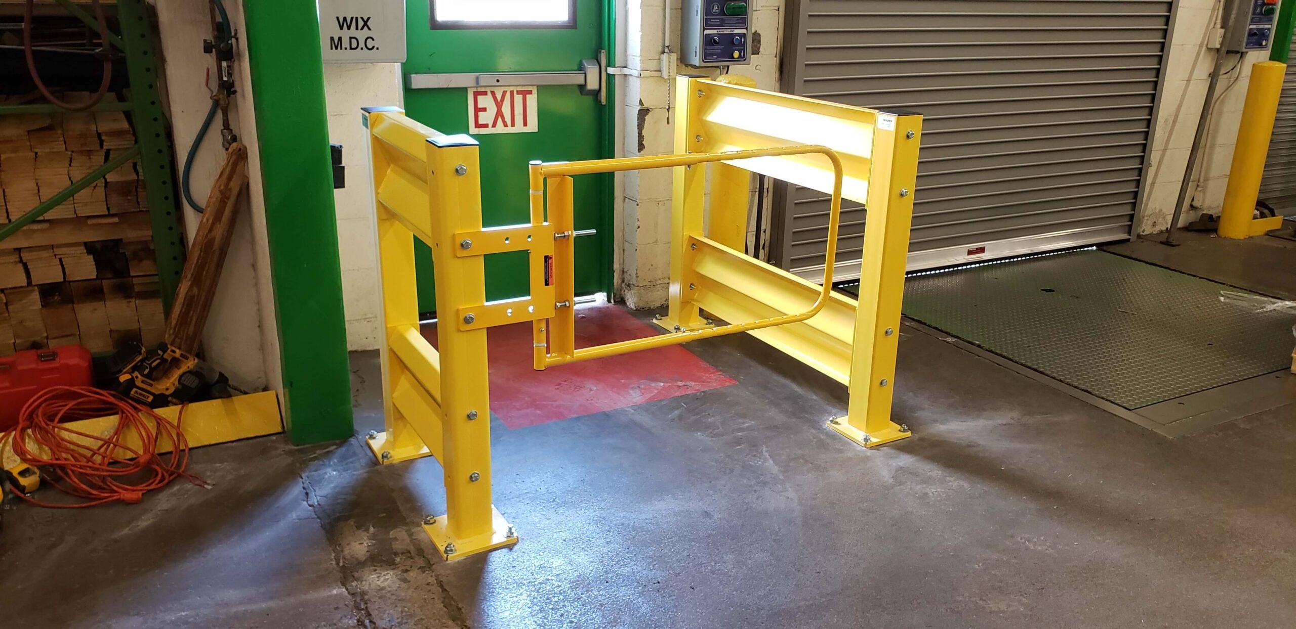 Self-closing industrial safety swing gate scg-w-y