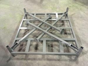 Folded down stack rack