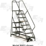 Stock Picking Rolling Ladder with Storage Shelf Carts Model P003 by EGA Products