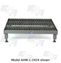 One step adjustable height work platform Model AHW-L-2424 from EGA Products