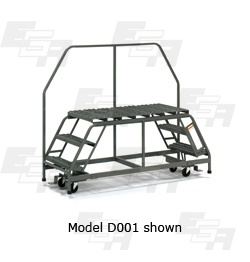 mobile work platform rolling ladder crossover platform model d001 from EGA Products
