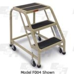 3 step rolling ladder for office