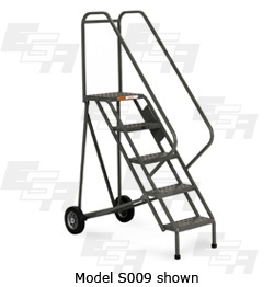 5 step rolling ladder