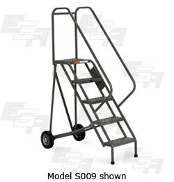 5 step rolling ladder