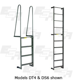 fixed wall side step ladders