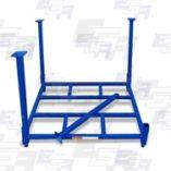 blue material handling rack